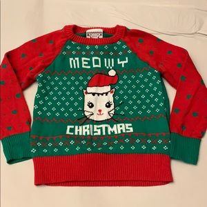 "Baby Meowy Christmas ""Ugly"" Sweater"